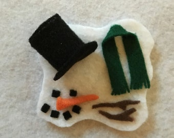 Melted Snowman Ornament or Magnet