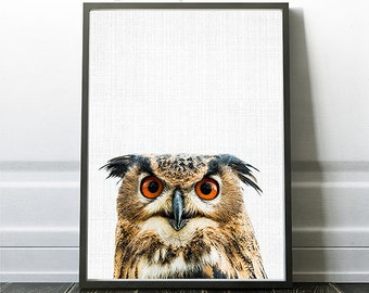 Owl Print, Owl Nursery Decor Print, Owl Artwork, Owl Poster, Owl Wall Art,  Instant Owl Art, Printable Owl, Woodland Owl, Owl Decor Prints