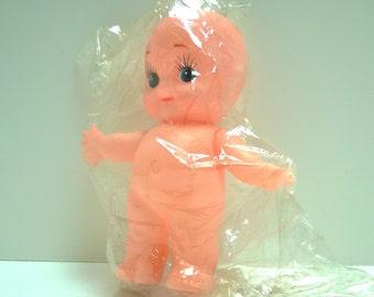 Vintage Kewpie style plastic vinyl 5 1/2 inch doll