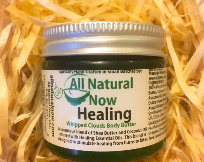 Healing Whipped Body Butter/100% Pure & Therapeutic Essential Oils/Stimulate Healing/Scars/Burns/Brown Spots/Hydrating