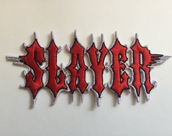"Slayer embroidered patch (aprox. 4"" x 2"")"