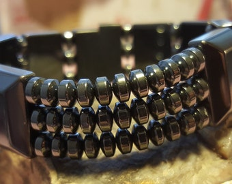 Energy Bracelet accented with Hematite Roundels