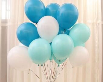 blue mint green balloon 10 inch balloon wedding balloon 50pcs