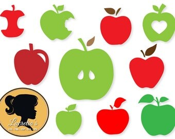 Apple, dxf, apples clipart, SVG files for Silhouette Cameo or Cricut, Apple logo, vector, .svg, dxf eps