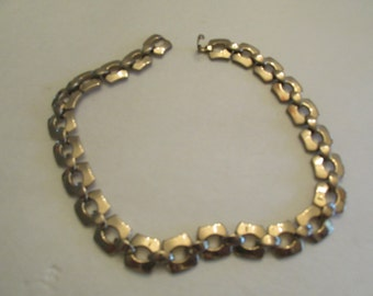 Vintage Signed MONET Chain Link Necklace