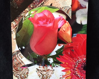 Rose, Persian Cloth Background