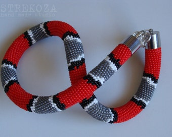 """hand made necklace """"Coral ASPID"""""""