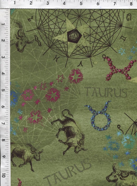 Horoscope astrology fabric fabri quilt horoscope new dawn for Astrology fabric
