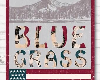 Bluegrass, Bluegrass Music, American Flag, Bluegrass Flag