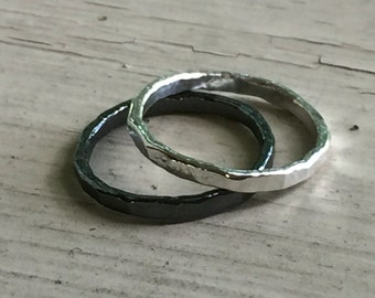 His and Her Ring Set - Silver - His and Her Ring - Set of 2