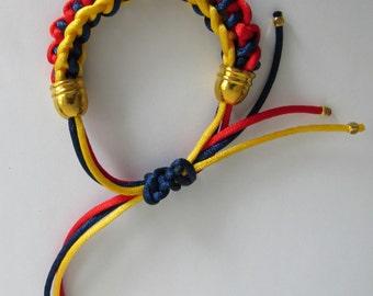 Kumihimo bracelet Venezuela