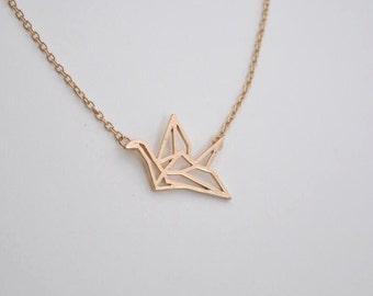 bird necklace gold necklace everyday necklace bridesmaid necklace Christmas necklace