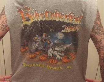 Halloween Biker bike week T-shirt tank