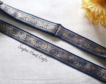 Navy Blue and Gold Gathra