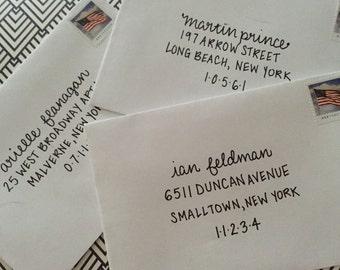 Hand Addressed Envelopes - Simple Script/print