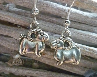 ram earrings, sheep gift, sheep earrings, sheep jewellery, farm animal gift, sheep farming gift, gift for shepherd, farming gift