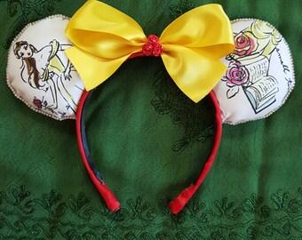 Belle Inspired Mickey Ears