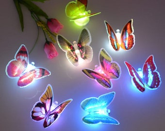 7 Color Changing Beautiful Cute Butterfly LED Night Light Lamp