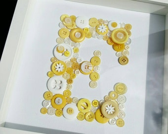 Personalised Button Letter Frame