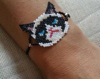 Grumpy cat bracelet