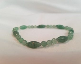 Green Aventurine Beaded Gemstone Bracelet