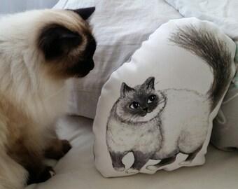 Pepperpot cat cushion