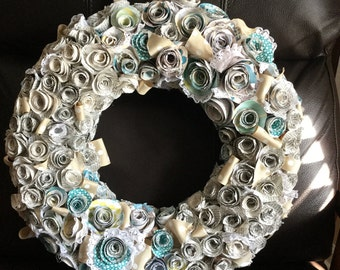 Beautiful paper flower wreath