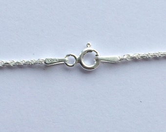 Sterling Silver rope chain/necklace