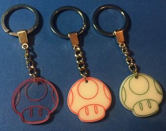Super Mario Bros Toad Keychain