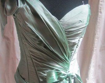 Light Green Silk Corset