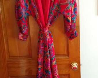 1990's paisley Victoria's Secret robe