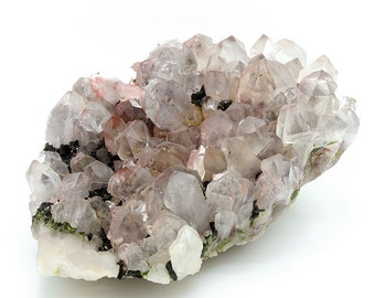 Large Pink Quartz Crystal Cluster Specimen – 1395g