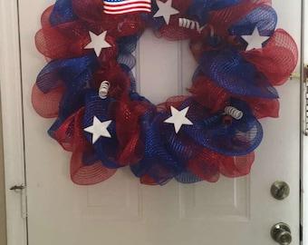 Patriotic Wreath Handmade