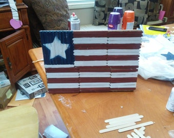 Popsicle Stick American Flag