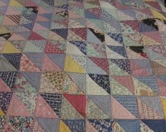Vintage handsewn quilt.