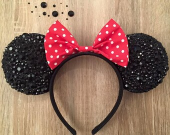 Bedazzled Rhinestone Minnie Mouse Ears