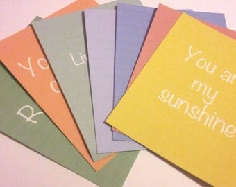 Pack of 7 - Inspirational/Quote journaling cards