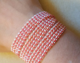 Shades of Coral Wrap Bracelet