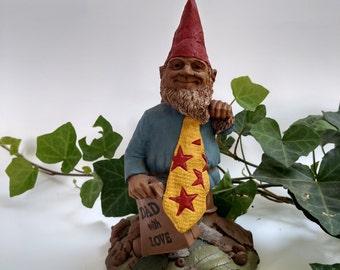 "Vintage c. 1993 #99 Thomas Clark Gnome ""Dad with Love"" ."