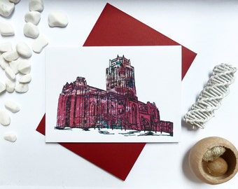 Liverpool Anglican Cathedral Greeting Card, Church of England Card, A6