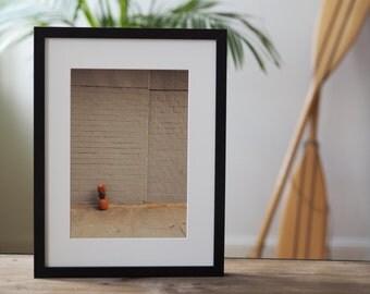 Image photography print - Grey Wall 30 x 40 poster