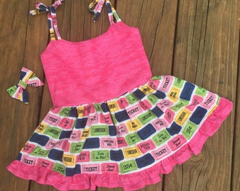 Baby dress - carnival dress - toddler dress - girls dress - sundress - ckc - waverly