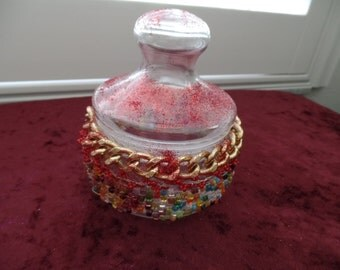 Shabby Chic Lidded Jar