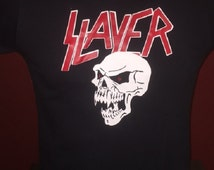 Slayer - Vampire Skull T-Shirt (Black) Sizes: S / M / L / XL / 2X
