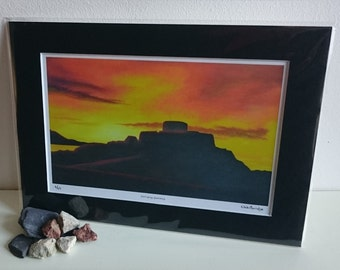 Fort Grey, Guernsey – Limited Edition Print of Original Oil Painting by Nicki Burridge