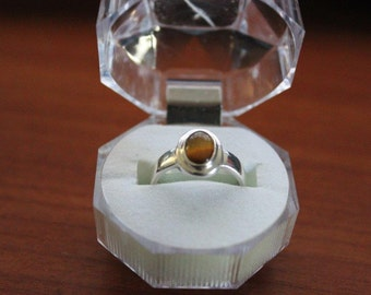 High Quality Handmade 925 Sterling Silver tigers eye ring