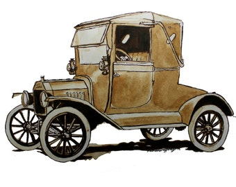 Ford Model T Print