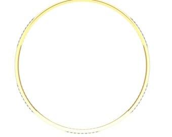 AvantikaJewellers 0.68 Cent Diamond 18k Gold Handmade Bangles