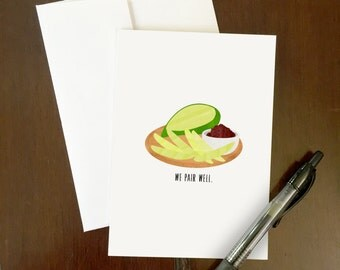 We Pair Well | Greeting Card | Mango and Bagoong Pun | Filipino-themed art | Philippines