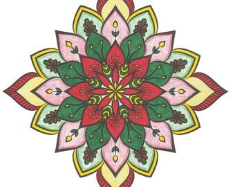 Christmas Colors Ceramic Tile Coasters